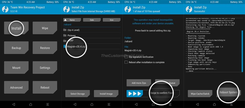Flash Magisk through TWRP Recovery to Root LG Nexus 5X