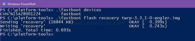 Flash TWRP Recovery on Nexus 6P