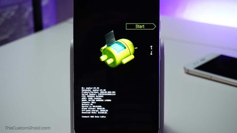 LG Nexus 5X Bootloader Mode