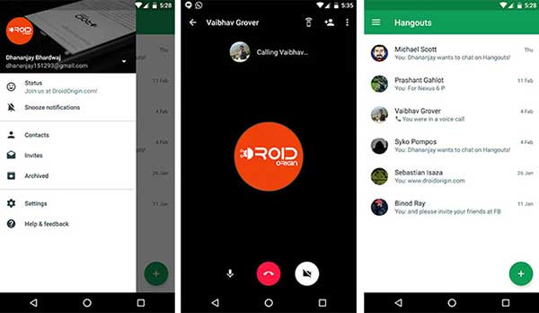 Alternatives to FaceTime on Android Google Hangouts