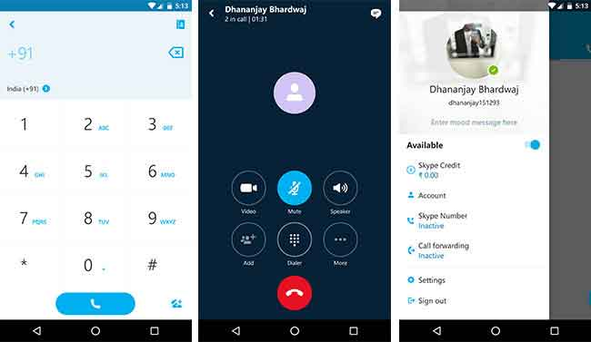 Alternatives to FaceTime on Android Skype