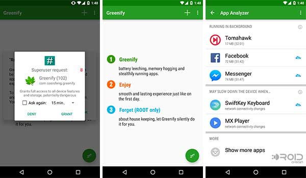 Install and setup Greenify Android App
