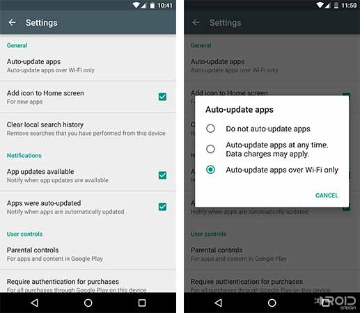 Reduce Data Usage on Android Disable Apps Auto-update