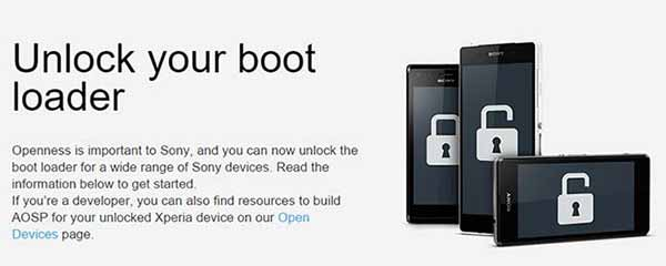 Unlock Bootloader on Xperia official unlock tool