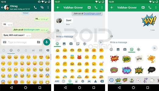 WhatsApp Google Hangouts Emoji