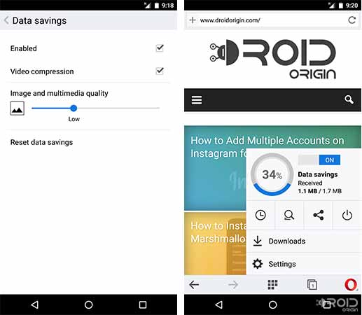Reduce Data Usage on Android Use Lightweight Browser