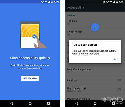 Google Accessibility Scanner App Screenshot