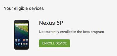 enroll in Android Beta Program Devices