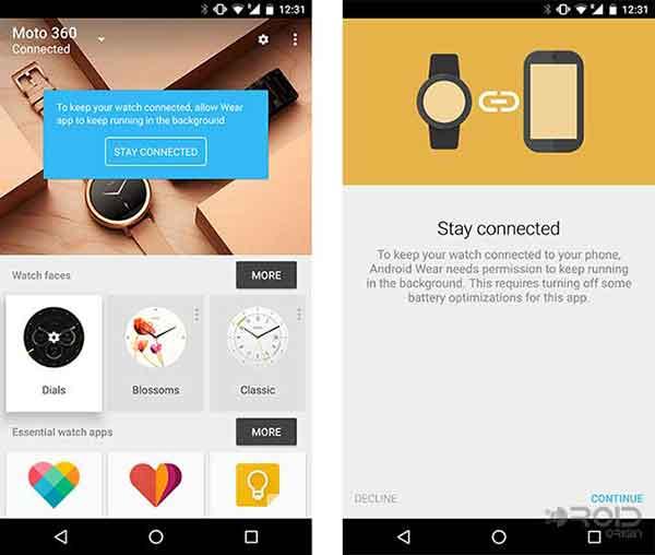 Android Wear v1.5 App Screenshot
