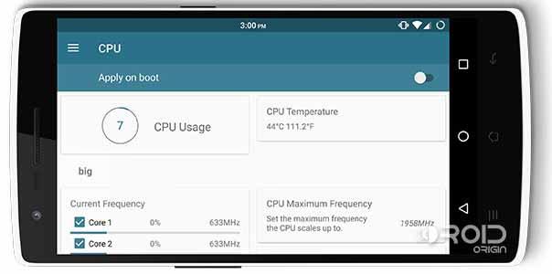 Boost Performance on Android Kernel Adiutor