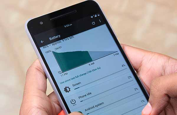 Android N Features Battery
