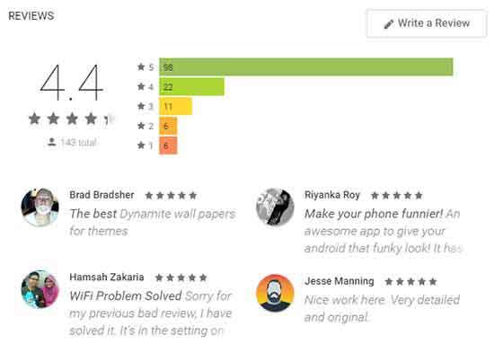 WallArt Android App Reviews