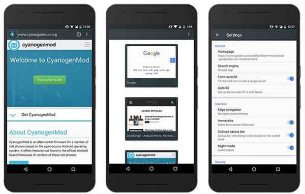 Gello - The Native CyanogenMod Browser App Screenshot