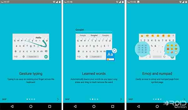 Google Keyboard 5.0 - Gestures and Suggestions