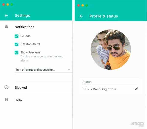 WhatsApp Desktop App Client - Settings