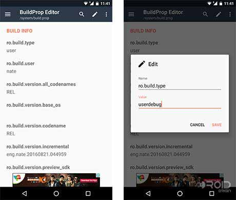 Get Android Nougat Features Build Prop Editor