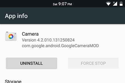 Pixel Camera App Info