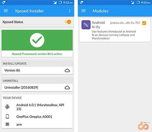Enable Google Assistant - Android N-ify Xposed Module