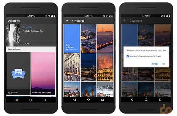 Google Wallpapers App - Screenshots