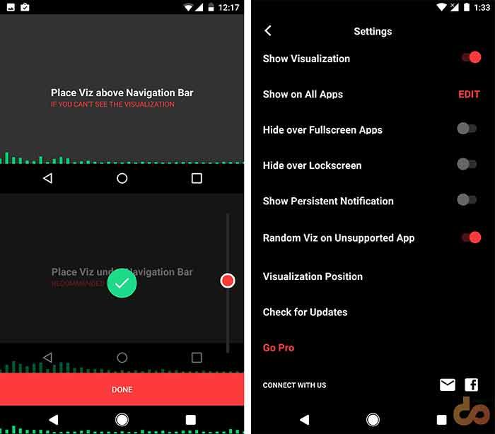 Muviz Nav Bar Audio Screenshot