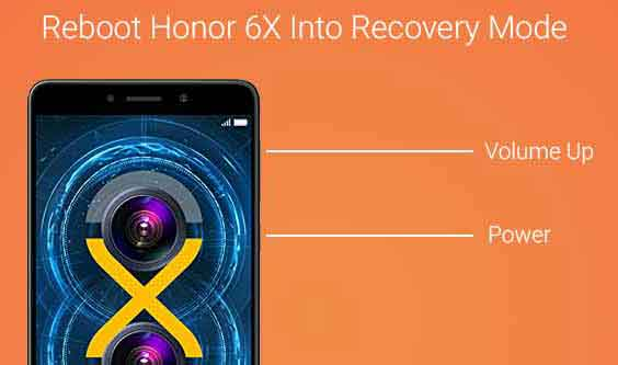 Reboot Honor 6X into Recovery Mode