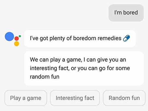 Google Assistant Tips and Tricks - I'm bored