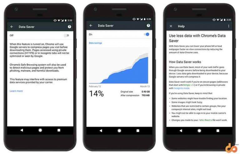 Google Chrome Tips and Tricks - Data Saver