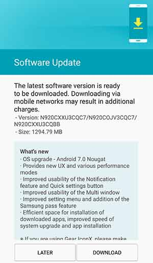 Install Nougat on Samsung Note 5