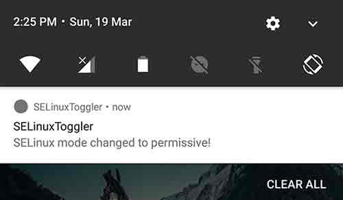SELinuxToggler Notification
