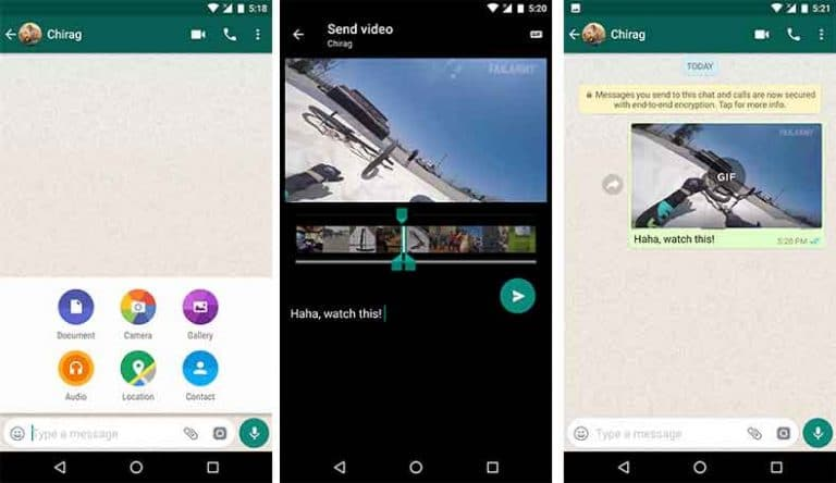 WhatsApp Tips and Tricks Send Video as GIF