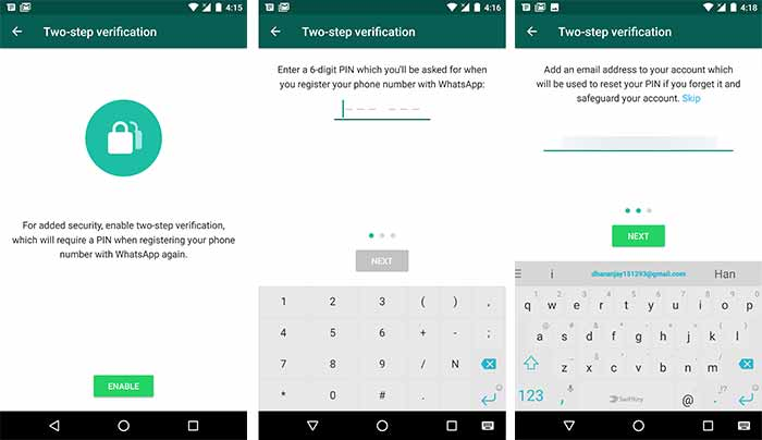 whatsapp messenger tips and tricks Two-step authentication