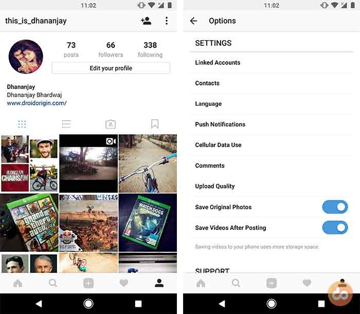 Save your own Instagram photos