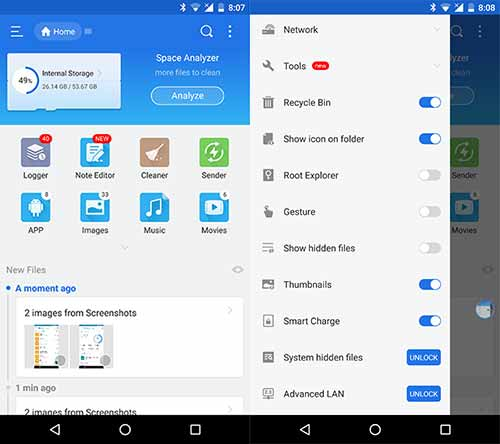 5 Best Android File Manager Apps - ES File Explorer