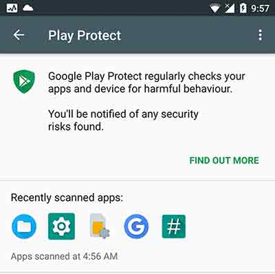 Android Oreo Features - Google Play Protect