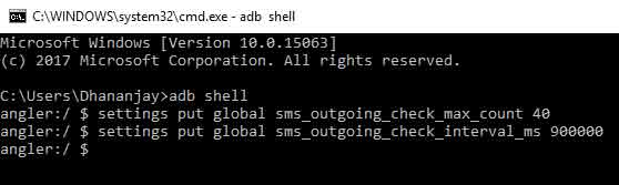 How to Change Android SMS Limit without Root - ADB Shell Commands