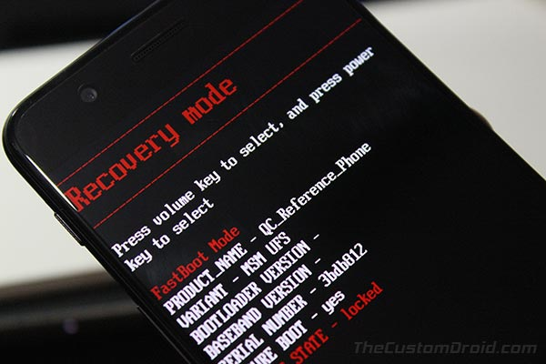 How to Boot OnePus 5 Bootloader - Recovery Mode