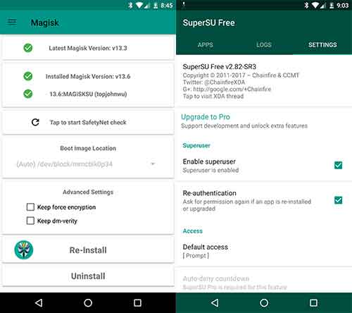 Root Android Oreo MagiskSU SuperSU