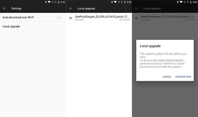 OnePlus 5 OxygenOS 4.5.10 Update - Install using Local Upgrade