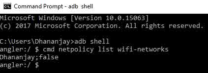 Set Metered WiFi Network on Huawei and Honor devices - ADB Shell