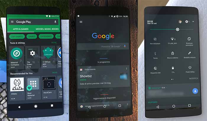 List of Android Oreo Substratum Themes - Stock Dark Substratum Theme