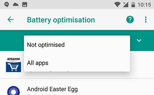 Disable Doze Mode on Android - Battery Optimisation