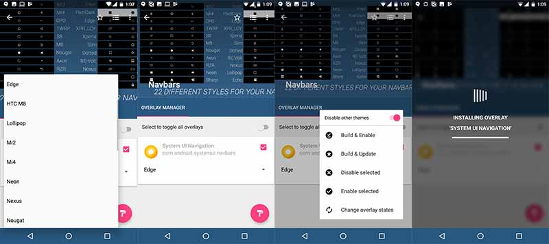 Customize Android Oreo NavBar - Installing Substratum Navbars Theme