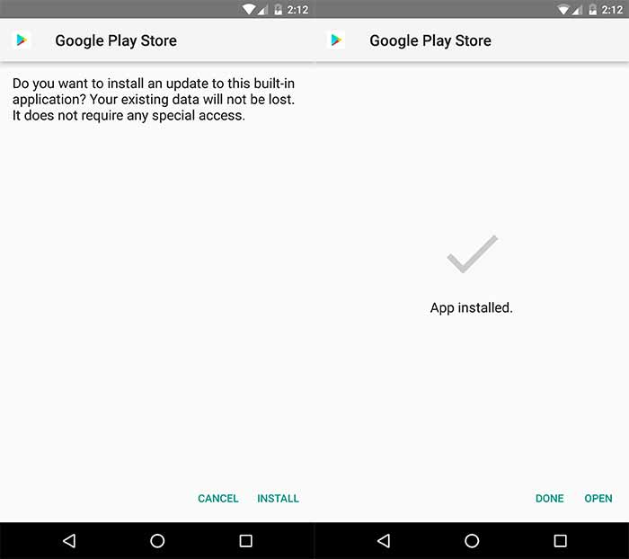 Download Google Play Store Update - Manual Installation