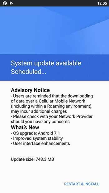 Nokia 3 Android Nougat 7.1.1 OTA Update