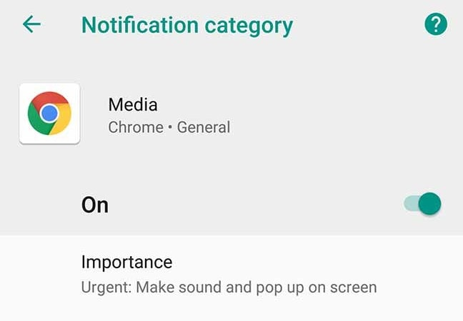 Enable Notification Importance Controls on Android 8.0 Oreo
