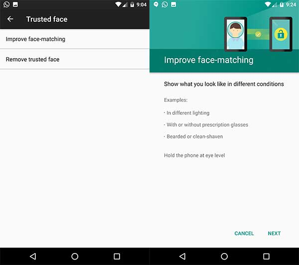 Face ID feature on Android - Improve Trusted face