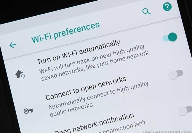 Get 'Turn on Wi-Fi Automatically' Option for Nexus 6P/5X on Android Oreo