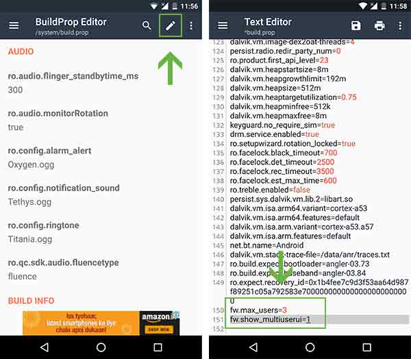 How to Enable Multi User Support on Any Android - Add flags using BuildProp Editor