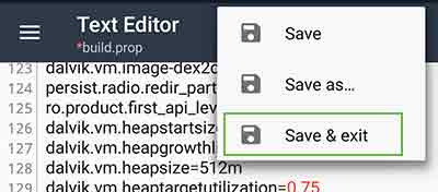 How to Enable Multi User Support on Any Android - Save & exit BuildProp Editor