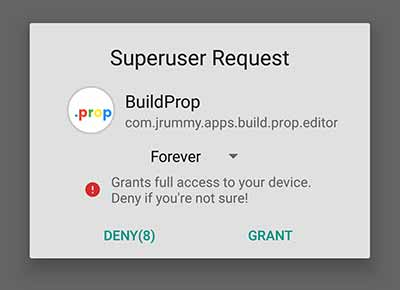 How to Enable Multi User Support on Any Android - Grant Root permissions to BuildProp Editor